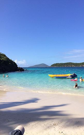 Have the beach to yourself in the Virgin Islands. (Image: Lauren Mack)