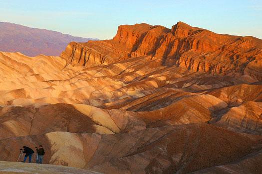 Zabriskie Point, part of Amargosa Range, east of Death Valley