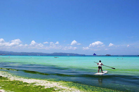 Paddleboarding in Boracay, Philippines