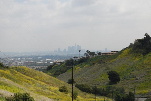 View of downtown Los Angeles from Baldwin Hills