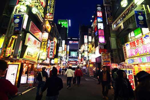 Night Life in Shinjuku, Tokyo