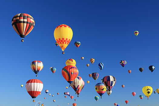 Hot air balloons in Albuquerque, New Mexico, United States (Image: dherrera_96)