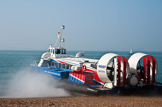 Hovercraft in Isle of Wight, England (Image: Hovertravel)