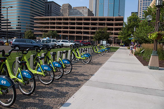 Nice Ride, the Twin Cities' public bike sharing system (Image: JimFenton)