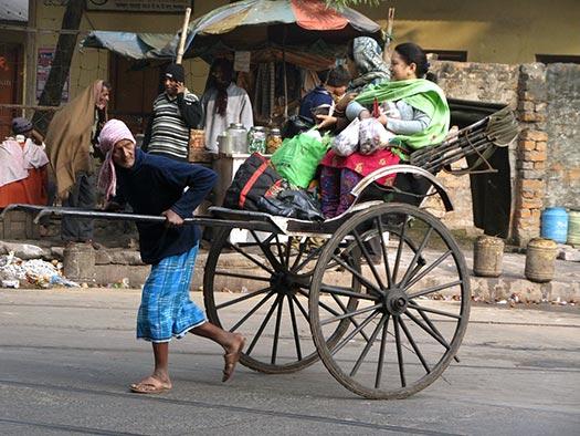 Pulled rickshaw (Image: Wikipedia)