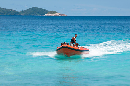 Rigid-hulled inflatable boat (Image: Seychelles Tourism Board)