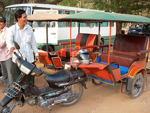 Remorque-moto in Sihanoukville, Cambodia