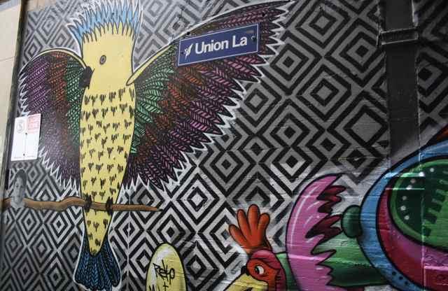 Union Lane is famed for its impressive murals (Image: Rene Cunningham)
