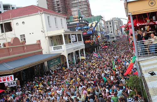 Long Street during a World Cup celebration (Image: flowcomm used under a Creative Commons Attribution-ShareAlike license)