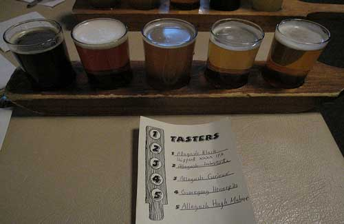 Beer flight at Great Lost Bear (Image: Bernt Rostad)