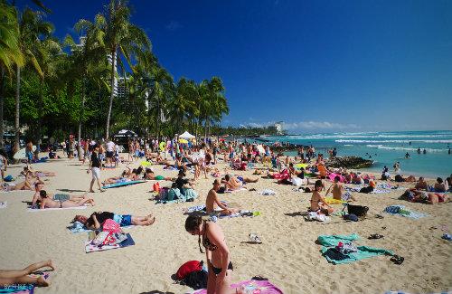 Waikiki Beach sized