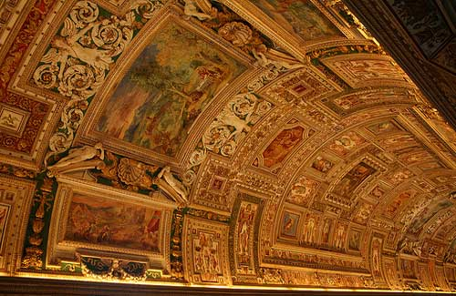 The ceiling at the Vatican Museums (Image: Walter Rodriguez used under a Creative Commons Attribution-ShareAlike license)