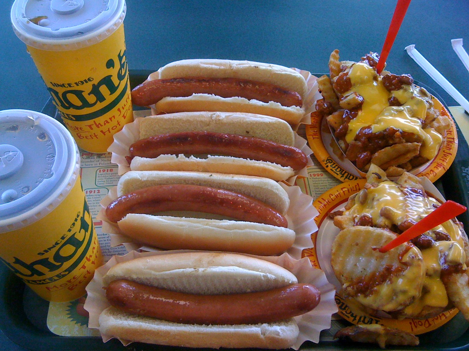 Nathan's Famous hot dogs! (Image: joeymanley)