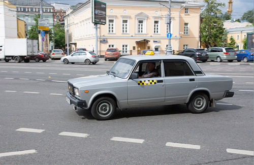 Taxi in Russia (Image: Petr Magera used under a Creative Commons Attribution-ShareAlike license)