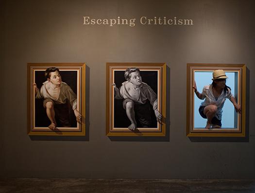 Interacting with art! (Image: Jirka Matousek)