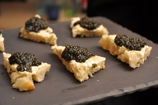 Caviar on toast | St Petersburg, Russia (Image: Dinner Series)