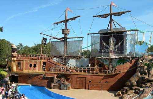 Pirate ship at SeaWorld Orlando, Florida (Image: Andrew Whitaker)