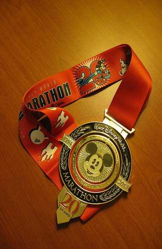 Walt Disney World Marathon medal (Image: soupstance)