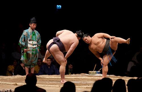 A sumo match (Image: Edward Dalmulder)