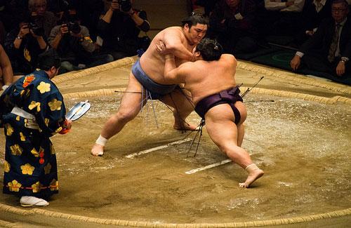 A sumo match (Image: greggman)