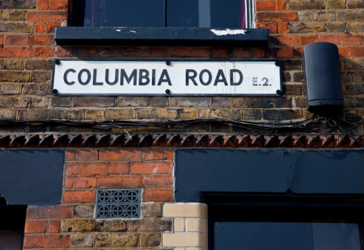 East London © Chris Dorney/iStock/Thinkstock http://www.thinkstockphotos.co.uk/image/stock-photo-columbia-road-street-sign/178439793