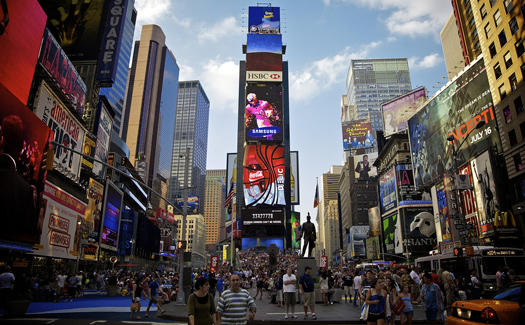 Times Square, New York, N.Y., United States (Image: aguichard used under a Creative Commons Attribution-ShareAlike license)