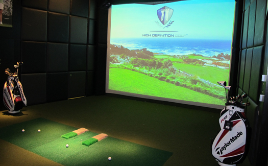 Golf simulator at Real Sports Bar & Grill (Image: Lighting & Imaging Photography)