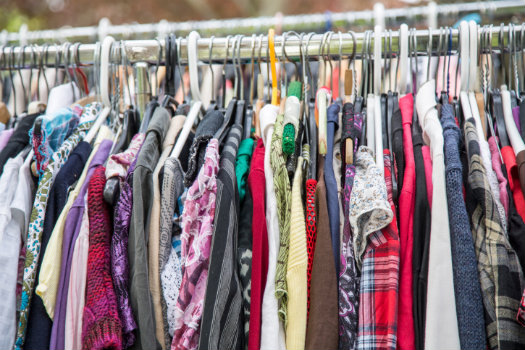 Market on Main © ArminStautBerlin/iStock/Thinkstock (http://www.thinkstockphotos.co.uk/image/stock-photo-clothes-on-a-rack-in-a-flea-market)