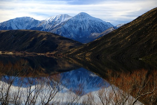 Free Campsites Around the World: Lake Pearson (Moana Rua), Canterbury. Photo by Francis Vallance (Heritage Warrior)
