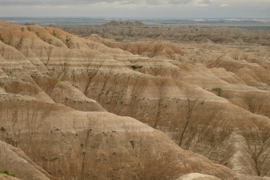 Free Campsites Around the World: Sage Creek Rim Road. Badlands National Park, North Dakota. Photo by Richie Diesterheft