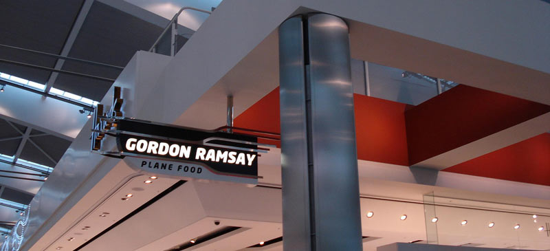 Upscale airport restaurants