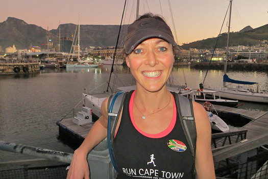 Philippa, Run Cape Town running guide/ founder. Photo by Run Cape Town