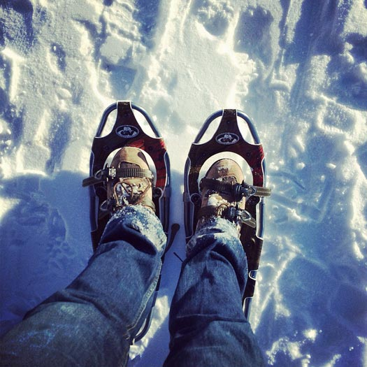 Modern day Snowshoes. Photo by Carlos Pacheco