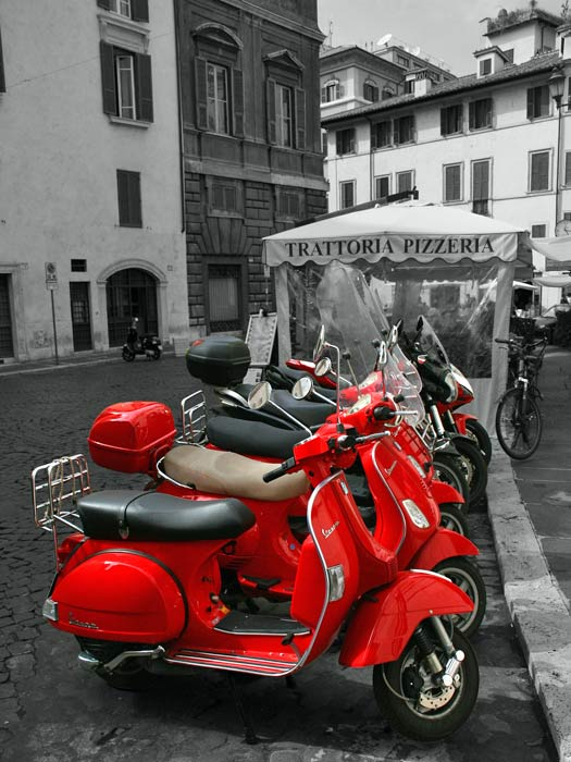 The Vespa in Rome. Photo by tekaybe
