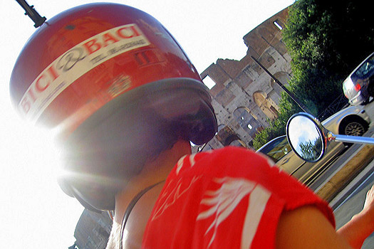 Bici & Baci Vespa. Colosseum, Rome. Photo by Nika Vee