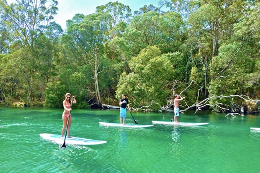 Paddle Boarding, Bryon Bay, Australia. Photo by byronstanduppaddle.com.au
