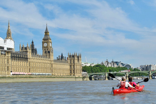Kayaking London. Photo by kayakinglondon.com