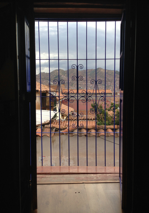 Looking out at Cusco from a room at Casona Les Pleiades (Image: Melisse Hinkle)