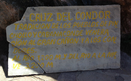 Sign marking the condor lookout (Image: Melisse Hinkle)