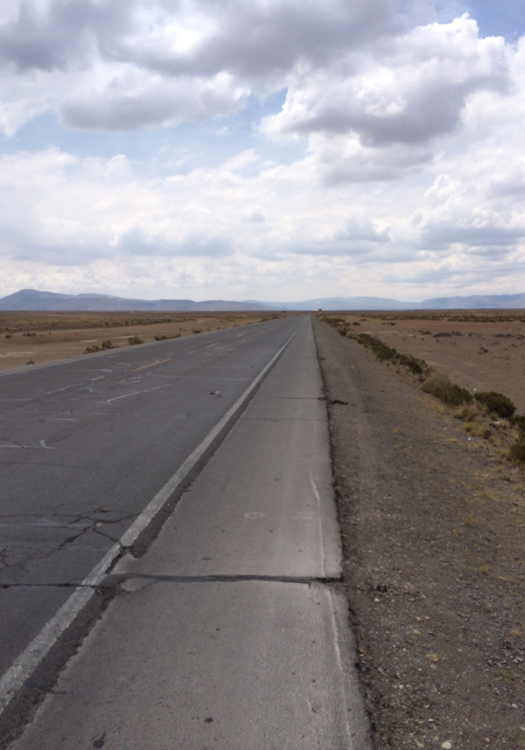 On the road, heading to the Colca Valley (Image: Pearse Lombard)