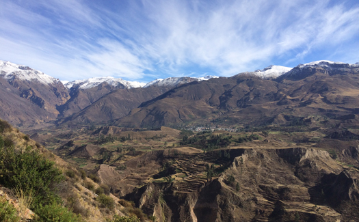 The beginning of Colca Canyon in the distance (Image: Pearse Lombard)