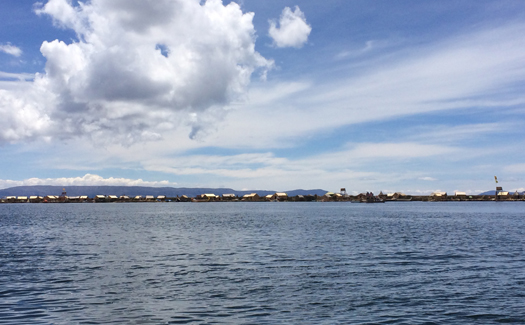The Uros Floating Islands in the distance (Image: Pearse Lombard)