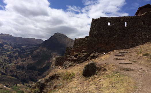 Looking out from the Inca ruins of Pisac (Image: Pearse Lombard)