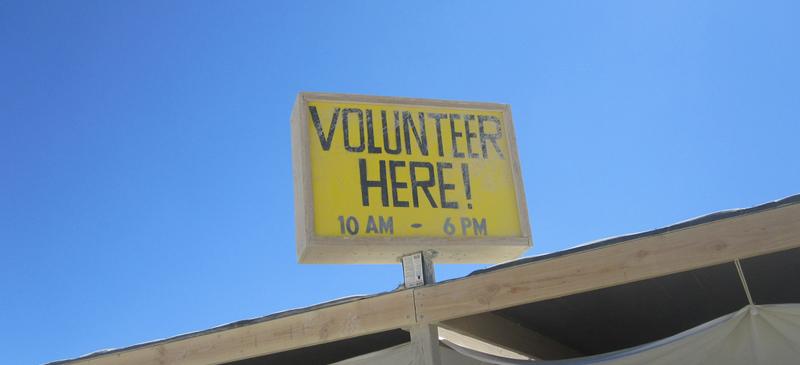 Volunteer here