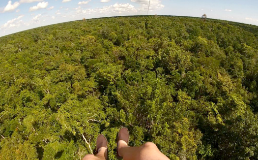 Ziplining above the treetops (Image: Brittany Dietz)