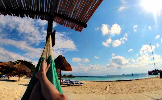 Beach on Islas Mujeres (Image: Brittany Dietz)