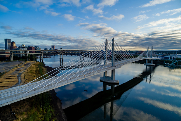 Tilikum Crossing bridge in Portland, Oregon