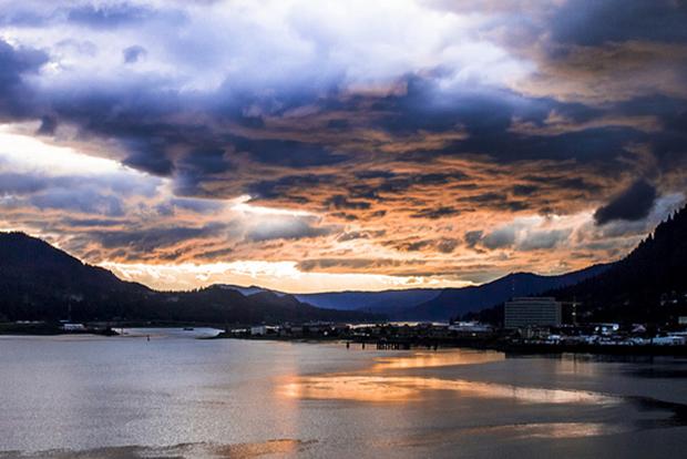 Juneau, Alaska sunset