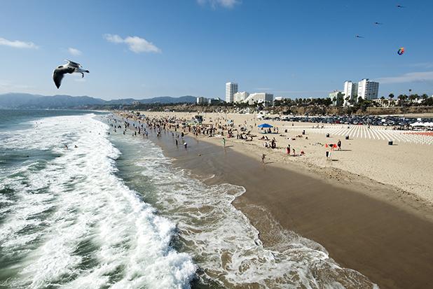 Santa Monica, California beach