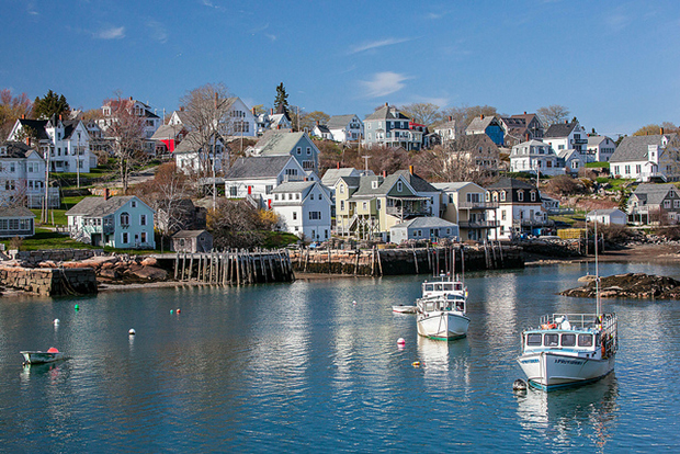 Quaint Maine fishing village